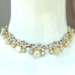 Jewelry - Rose Gold Mother of Pearl Vintage Choker Necklace